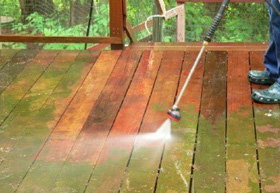 Clean your decking